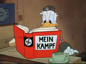 disney donald duck reading mein kampf
